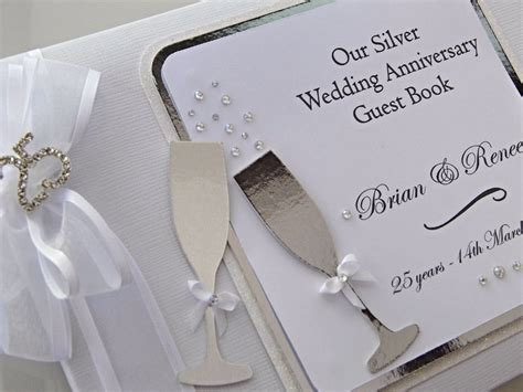 Silver Anniversary Wedding by Silver Wedding Anniversary Guest Book Personalised