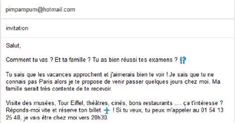 Modèle De Lettre D Invitation Pour Les Vacances La Classe De Fabienne Expression 233 Crite R 233 Pondre 224 Une Invitation