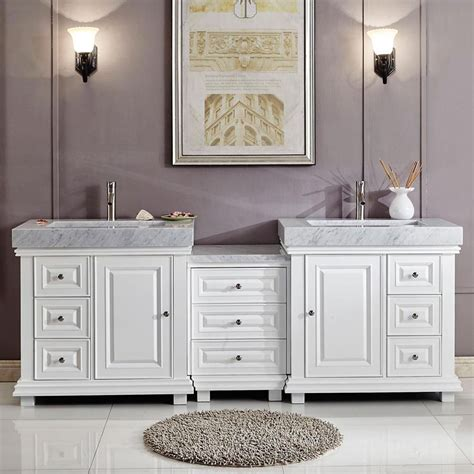 90 quot modern bathroom vanity white