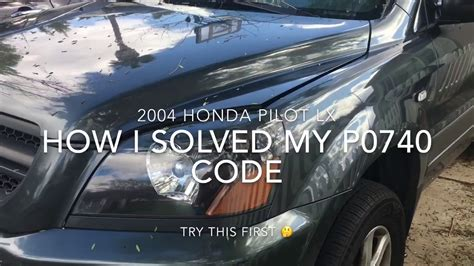 honda pilot mil check engine code p solution youtube