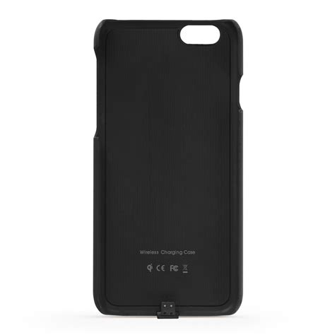 qi wireless charging case apple iphone   black