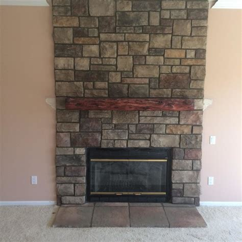 Brighton And Fireplace by Boral Cultured Limestone Family Room Detroit