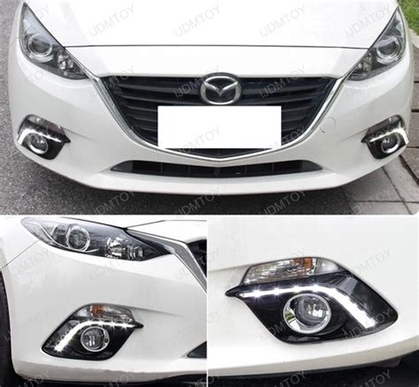 mazda 3 grill light 2014 up mazda 3 oem fit 10w led daytime running light kit