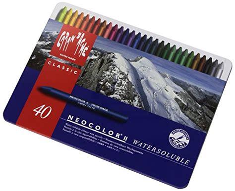 Crayon Carandache 40 Neocolor 1 caran d ache classic neocolor ii water soluble pastels 40