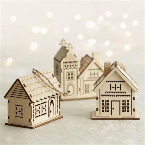 house ornaments laser cut wood house ornaments lasercut