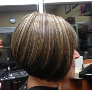 bob hair with high lights and lowlights highlights and lowlights mixed with natural color cut