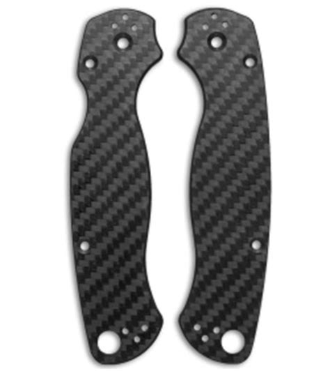 paramilitary 2 carbon fiber replacement scales for the spyderco paramilitary 2