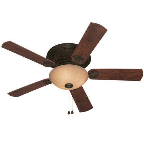 Shop Harbor Breeze Lynstead 52 In Specialty Bronze Flush Harbor Ceiling Fan Light