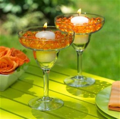 table decorations using martini glasses centerpieces