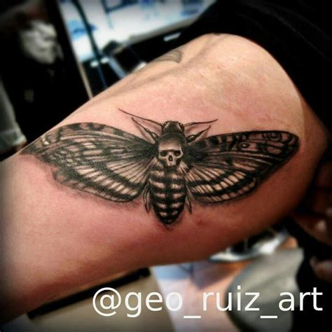 Death Moth Tattoo By Geo Ruiz Chicago Il Chicago State Best Moth Designs Meaning