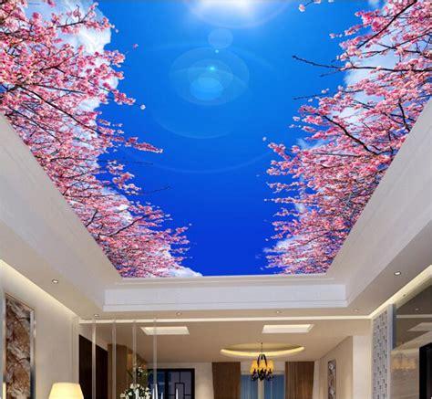 3d room wallpaper custom mural non woven blue sky white