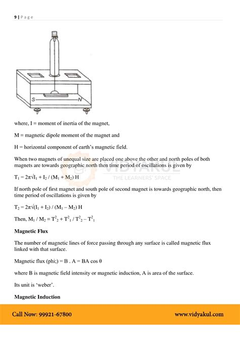 Magnetism And Matter Class 12 Notes Vidyakul