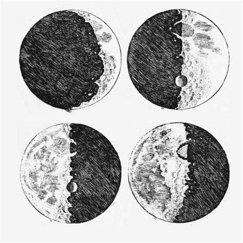 Sketches Moon by Galileo S Moon Drawings