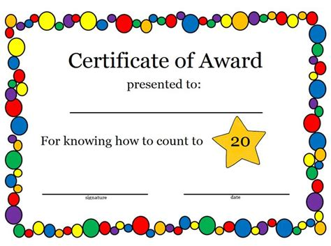 templates for school awards 127 best images about award certificates on pinterest