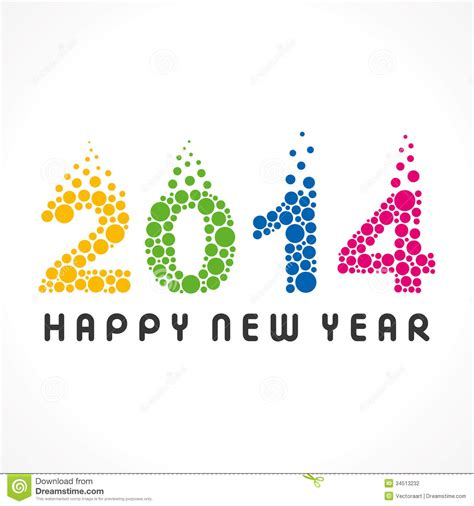 happy new year 2014 stock photography image 34513232