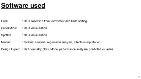 design expert regression analysis factorial design analysis