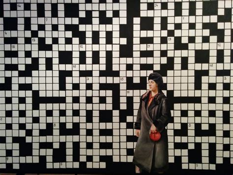dealing with current themes crossword clue old lady mistakenly fills in crossword art exhibit