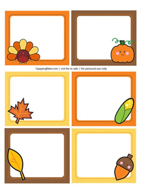 free thanksgiving name card templates free printable thanksgiving labels downloads