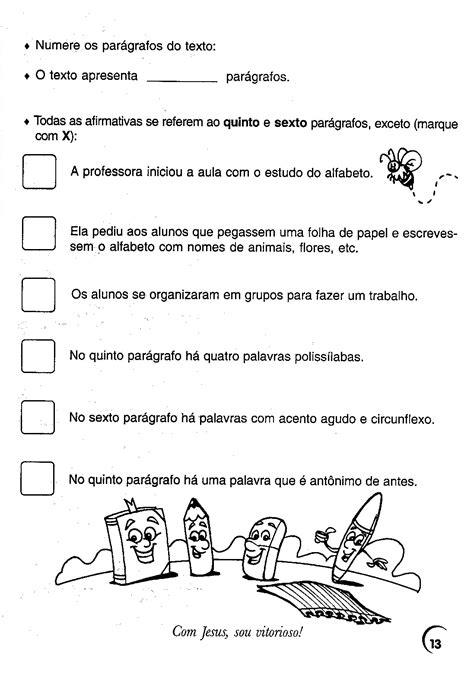 Blog Professor Zezinho : Atividades e Exercícios de
