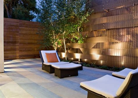 minimalist garden lighting ideas outdoor lighting outdoor fence decoration ideas patio contemporary with