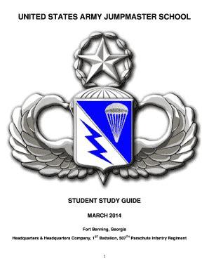 Jumpmaster Study Guide - Fill Online, Printable, Fillable ... Jumpmaster School Ft Benning