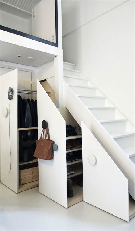 nine clever designs that integrate storage with stairs mocha