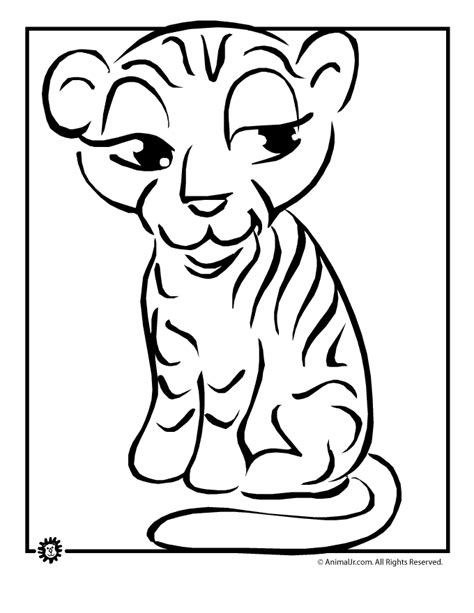 Tiger Cub Coloring Pages by Tiger Cub Coloring Page Woo Jr Activities