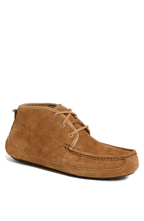 ugg lyle chukka boot slipper in brown for chestnut