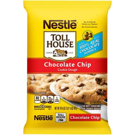 toll house chocolate chip cookies toll house chocolate chip cookie dough 24 ct from mariano s instacart