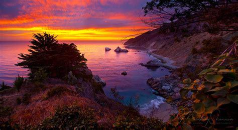 Most Beautiful States big sur sunset big sur california mickey shannon