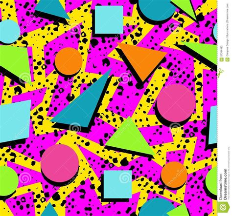 80s design retro 80s seamless pattern background stock vector image