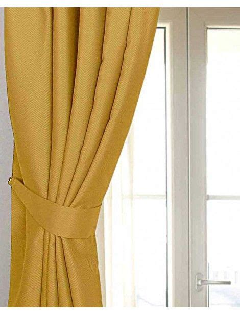 mustard colored drapes mustard yellow ochre herringbone chevron curtains tie