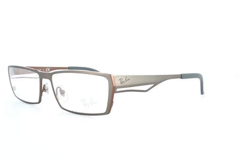 ban rb8645 1104 rx eyeglasses titanium top gray brown