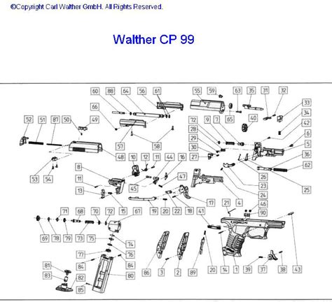 walther p22 parts diagram walther pk380 parts diagram cz 75 compact parts diagram