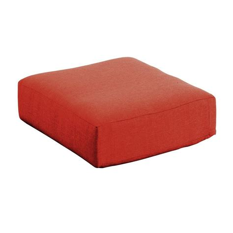 outdoor ottoman cushion replacement hton bay moreno valley sunbrella canvas rust