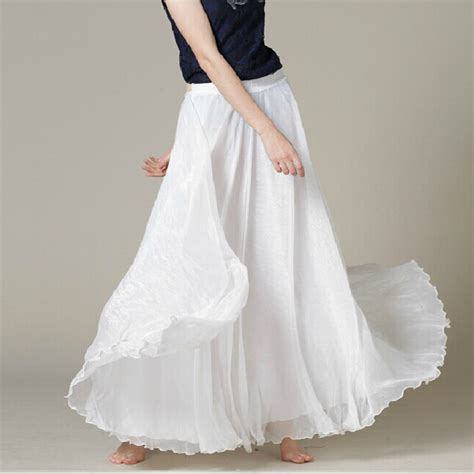 aliexpress buy white chiffon maxi skirt