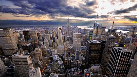 late afternoon  manhattan places paysage fond