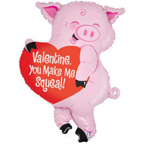 valentines pig you make me squeal