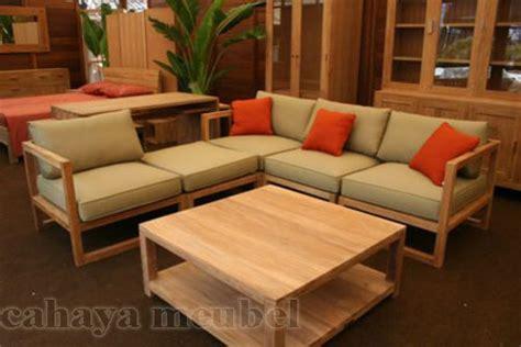 Kursi Tamu Sudut Minimalis Modern kursi tamu minimalis modern kayu jati jepara cahaya mebel jepara
