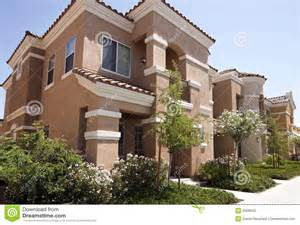 New Modern Home new modern homes in the arizona desert stock photo image