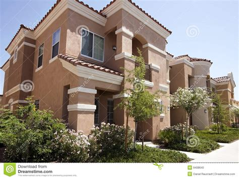 Adobe Style House Plans new modern homes in the arizona desert stock photo image
