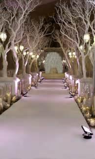 winter wedding ceremony decorations ideas