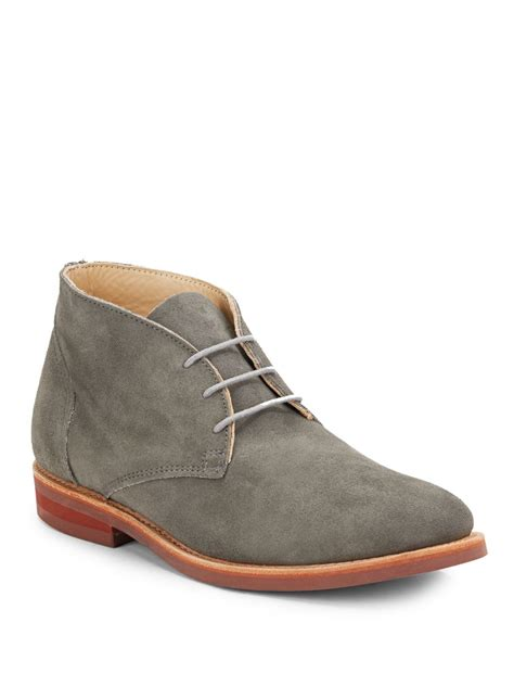 gray suede boots walk wilfred suede chukka boots in gray for grey