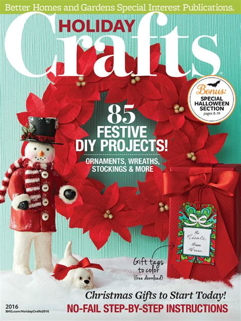 Better Homes And Gardens Holiday Crafts Magazine - crafts holiday 2016 187 pdf magazines archive