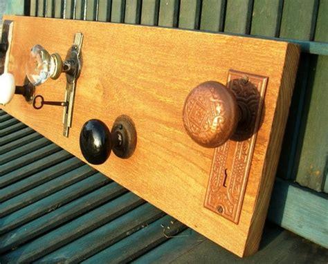 vintage simple door knob coat rack