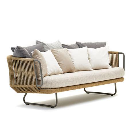 divano intrecciato in fibra sintetica canapa babylon
