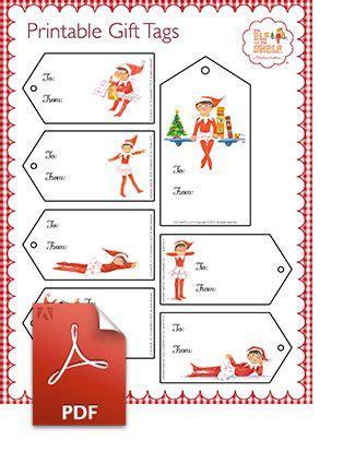 printable elf snot label printable gift tags elf on the shelf christmas label