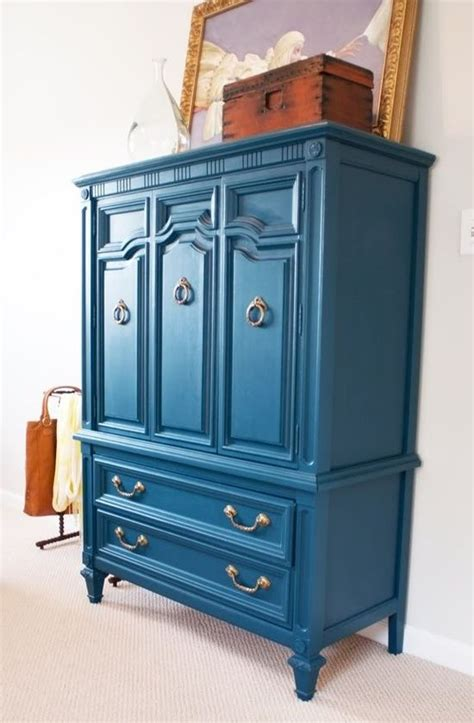 blue painted furniture pinterest