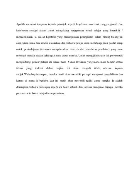 jurnal membuat hipotesis ulasan jurnal pembangunan sahsiah