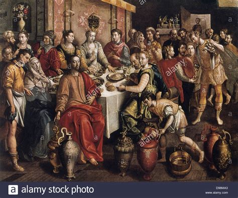 Wedding At Cana Story by The Wedding At Cana 1596 1597 On Panel Marten De